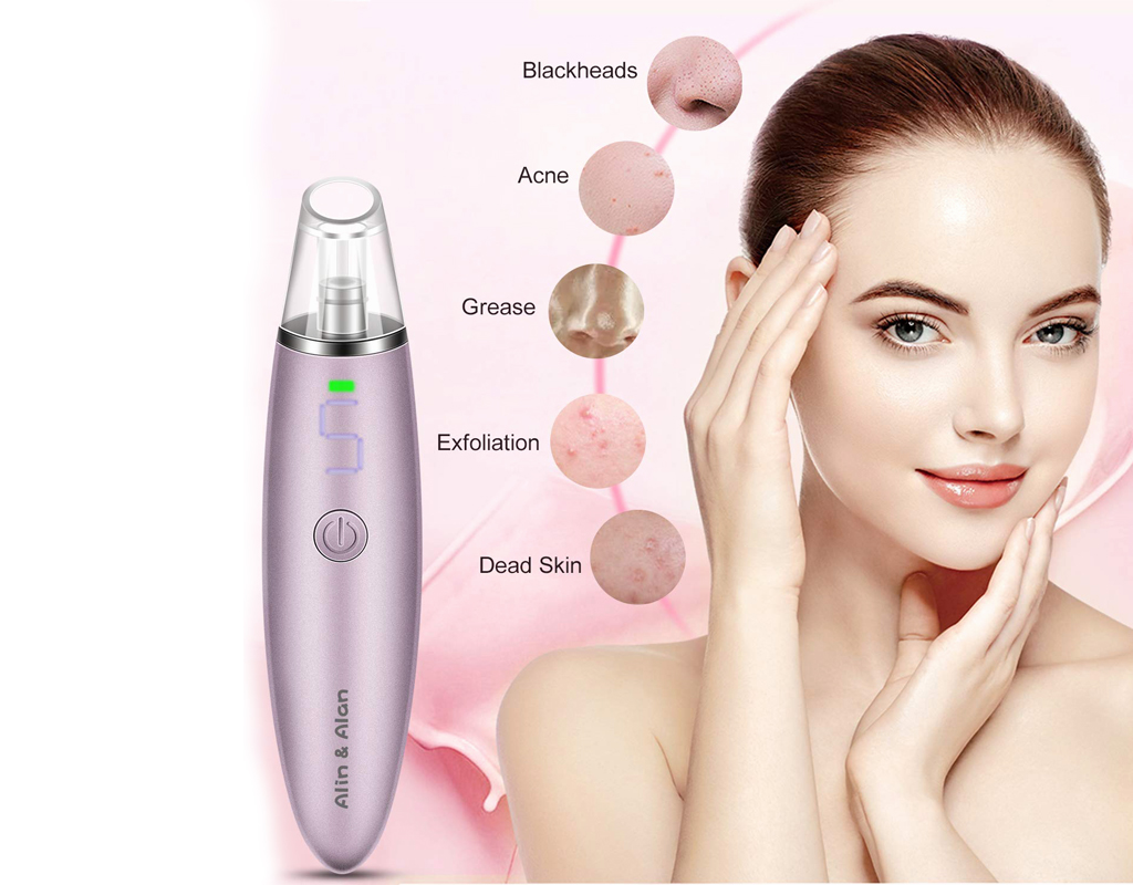 Electric Blackhead Suction Devices USB Rechargeable Acne Comedone Extractor Tool Kit