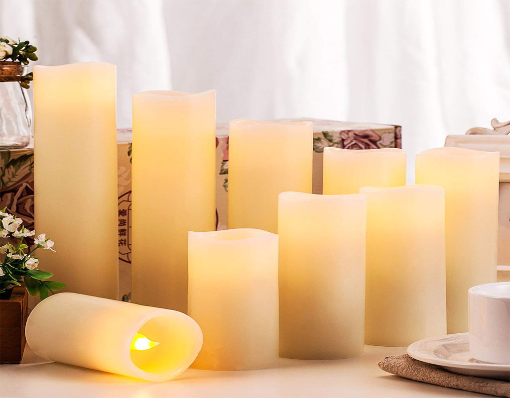 Enpornk Flameless Candles-Battery Operated Candles