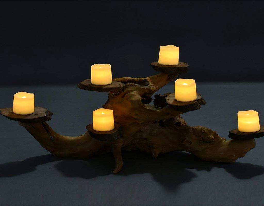 Flameless Votive Candles Flickering Tea Light Candles