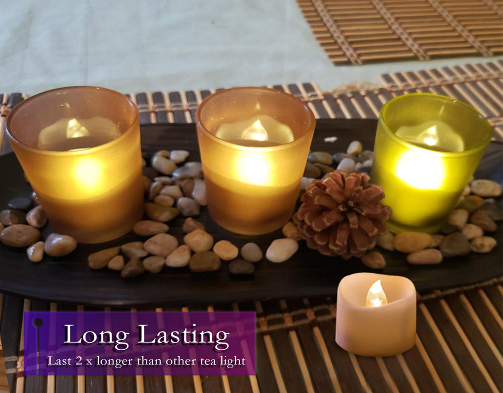 Homemory Realistic Flameless LED Tea Light