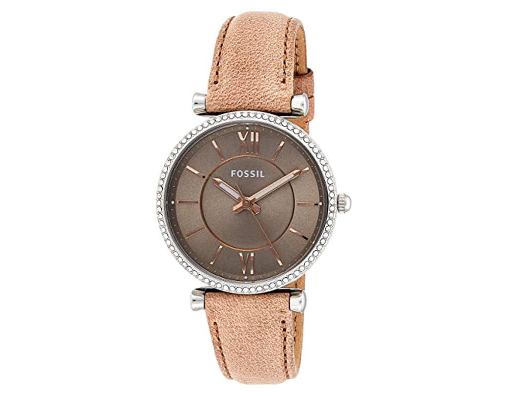Fossil Women's Carlie Stainless Leather