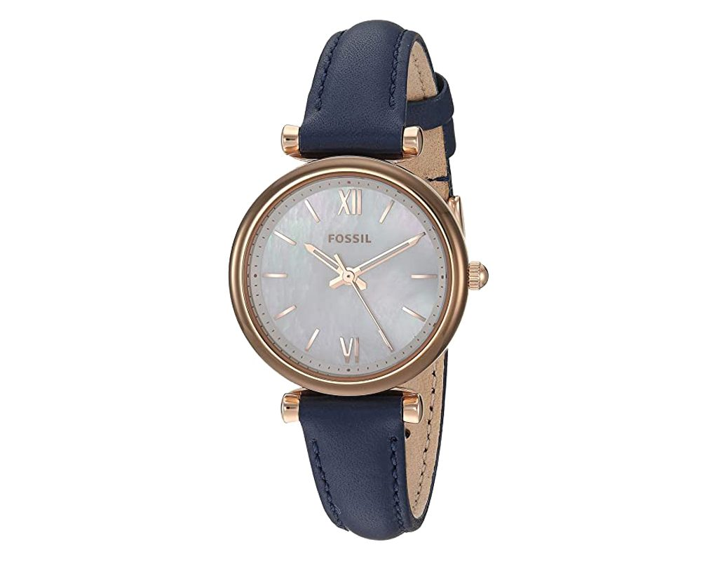 Fossil Women's Carlie Stainless Leather ES4502