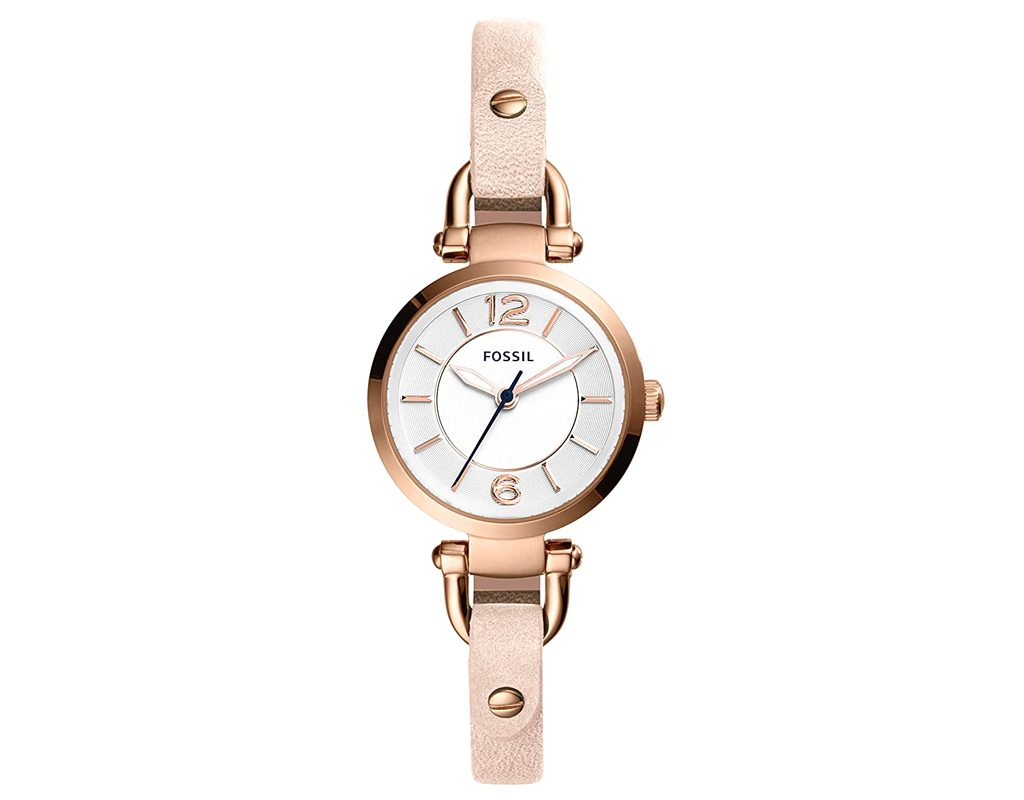 Fossil Women's Georgia Stainless Leather