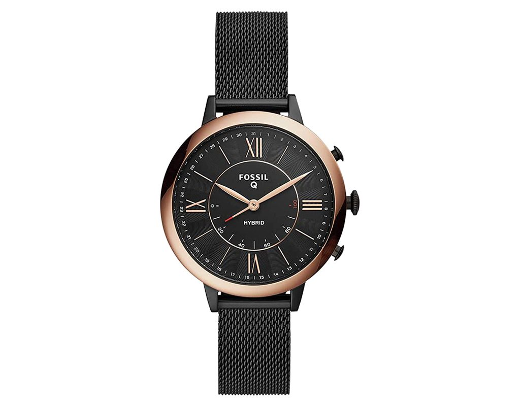 Fossil Women's Hybrid Smartwatch Stainless Steel Plated