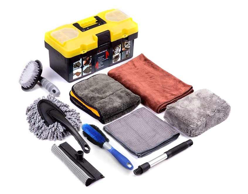 Mofeez 9pcs Car Cleaning Tools Kit. car wash equipment