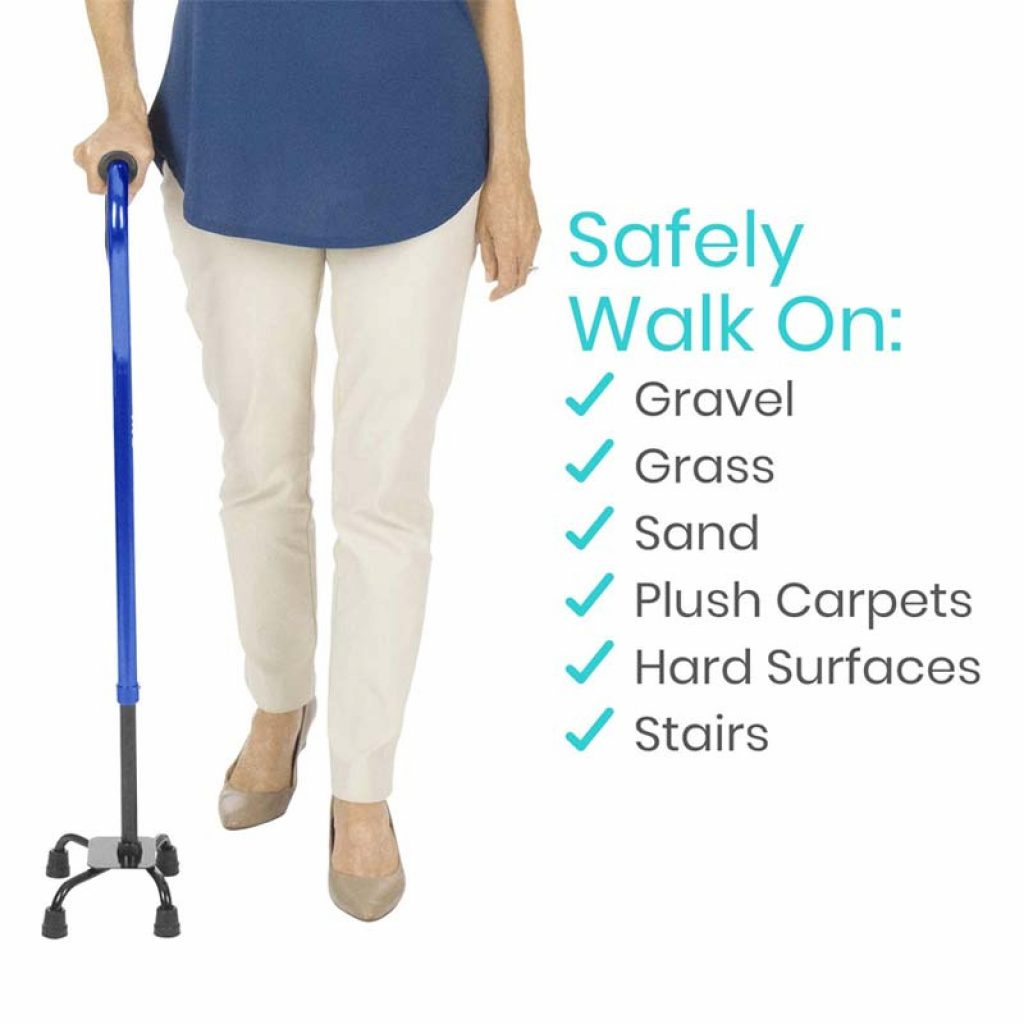 Best Walking Cane for Stability Vive Quad Cane for Men and Women