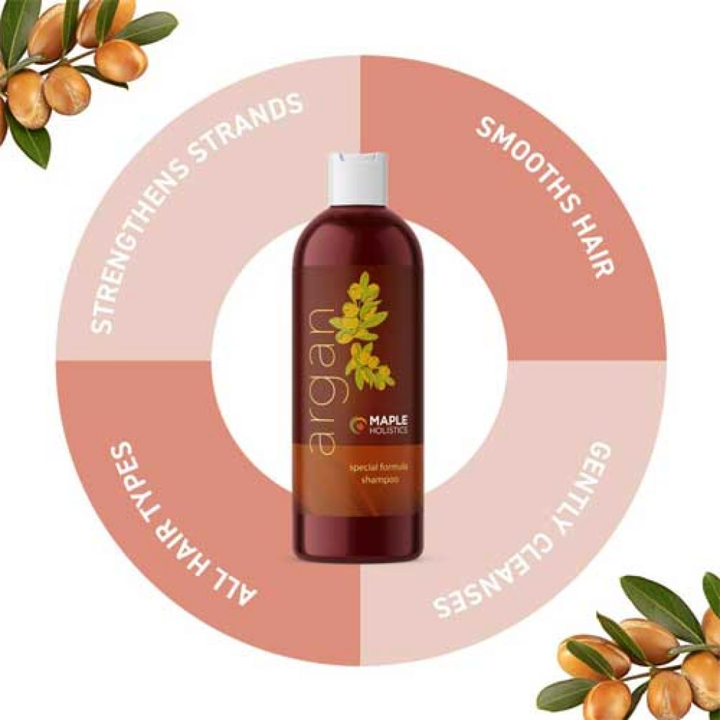 Pure Argan Oil Shampoo Hair Growth Treatment By Maple Holistics