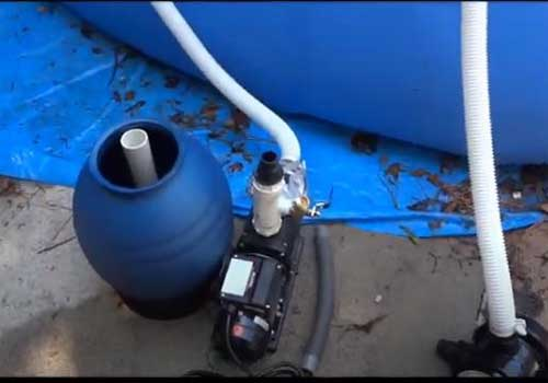 How to install an above ground pool filter