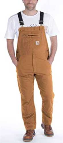 Carhartt Men's Relaxed Fit Canvas Bib Overall