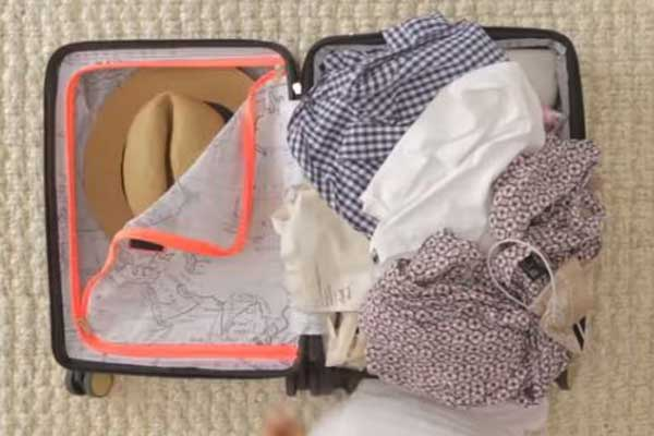 How to pack a checked suitcase