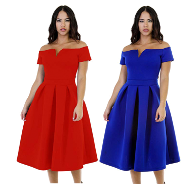 Women's Vintage 1950s Party Cocktail Wedding Swing Midi Dress Review
