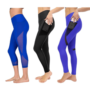 Women's High Waist Athletic Leggings with Pocket