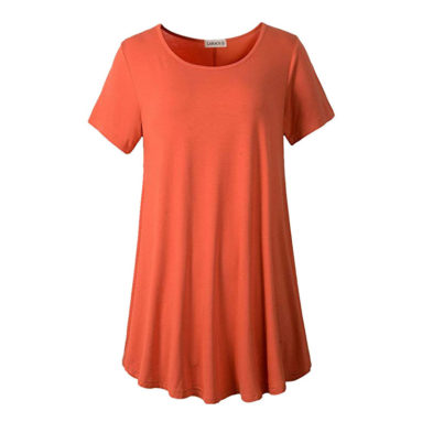 Short Sleeve Tunic Tops for Leggings