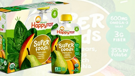 Happy Tot Organic Stage 4 Baby Foods Pears